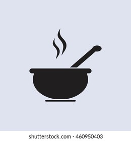 Soup icon isolated Vector