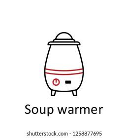 soup warmer icon. Element of restaurant professional equipment. Thin line icon for website design and development, app development. Premium icon