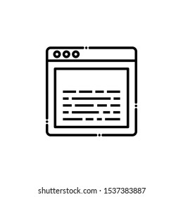 Source Code outline icon. SEO & WEB Illustration style.