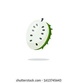 Soursop icon color. Soursop symbol. Guanabana icon vector illustration.