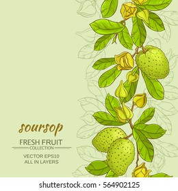 soursop vector background