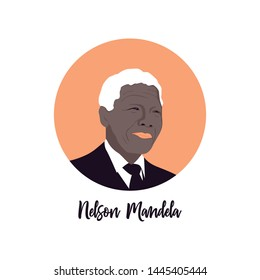South Africa, 18 July: Nelson Mandela was a South African anti-apartheid revolutionary, political leader, and philanthropist, President of South Africa from 1994 to 1999. Vector editorial illustration