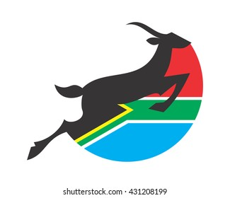south africa antelope silhouette animal safari image vector