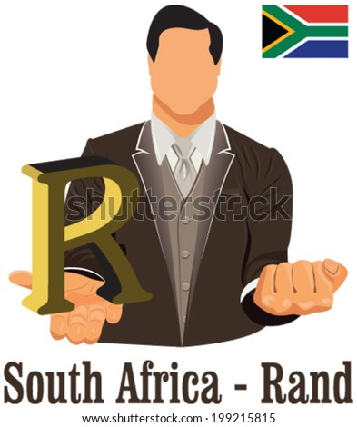South Africa Currency Symbol Rand Representing Stock Vector Royalty