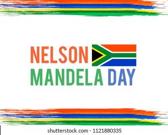 South Africa Flag Background For International Nelson Mandela Day.