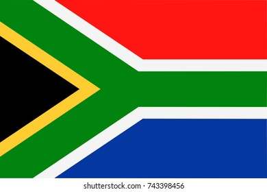 South Africa Flag Vector Icon - Illustration