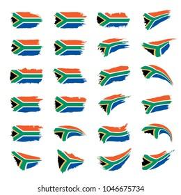 south africa flag, vector illustration