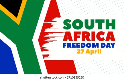 South Africa Freedom Day (Afrikaans: Vryheidsdag) is a public holiday in South Africa celebrated on 27 April. Background, poster, card, banner design. Vector EPS 10
