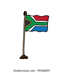 south africa hand drawn - vector illustration