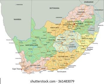 Africa Detailed Map.South Africa Detailed Map Stock Vectors Images Vector Art
