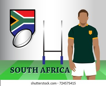 South Africa team new official rugby kit with jersey and short