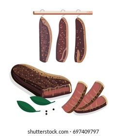 South African Biltong - traditional cured meat