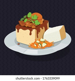 South African Bunny Chow on Plate