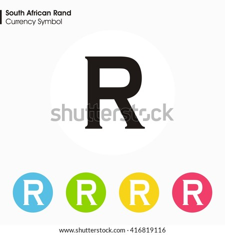 South African Rand Sign Icon Money Symbol Stock Vector Royalty Free