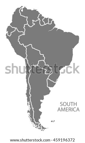 South America Countries Map Grey Stock Vector (Royalty Free ...