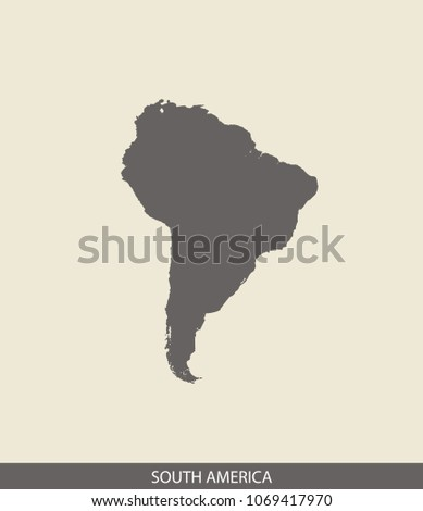 South America Map Outline Vector Illustration Stock Vector (Royalty ...