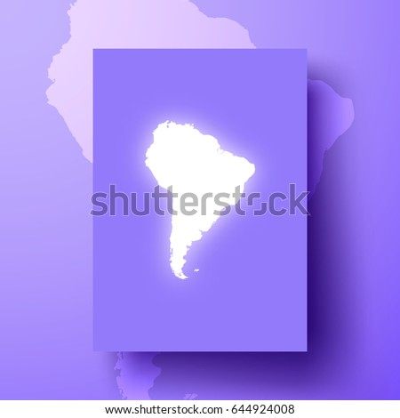 Purple America Map.South America Map Shining On Purple Stock Vector Royalty Free
