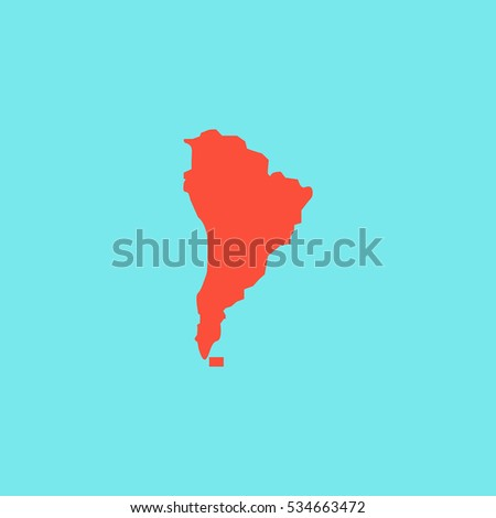 South America Map Simple Vector Color Stock Image Download Now