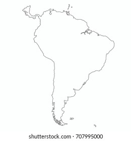 South America Outline Map Vector Stock Vector (Royalty Free ...
