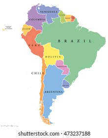 Central And South America Map on