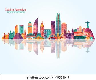 South America skyline. Vector illustration