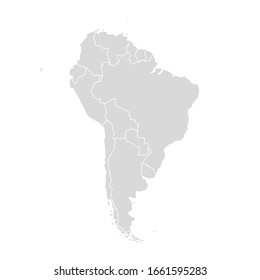 South America vector map. Latin America world country map