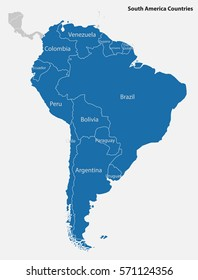 South America-highly detailed map