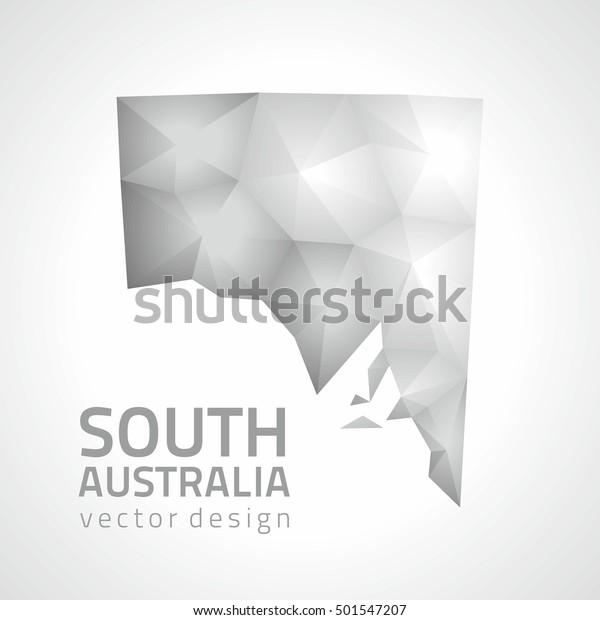3d Map Of South Australia.South Australia Vector Mosaic 3d Grey Stock Vector Royalty Free