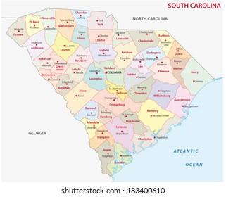 South Carolina Map Images, Stock Photos & Vectors | Shutterstock