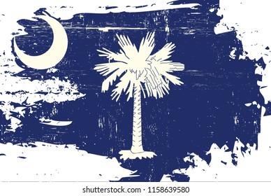 South Carolina flag with a texture