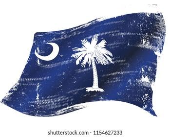 South Carolina flag in the wind