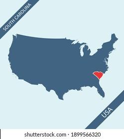South Carolina location on USA map