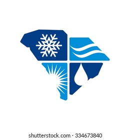 south carolina logo. 4 season logo.