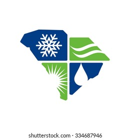 south carolina logo. 4 season.