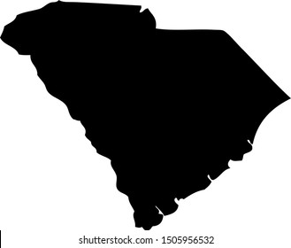 South Carolina - map state of USA