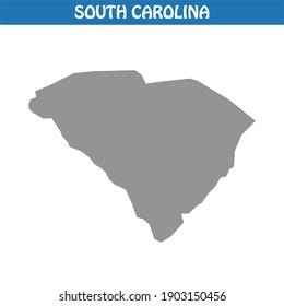 South Carolina Map Vector - Editable maps