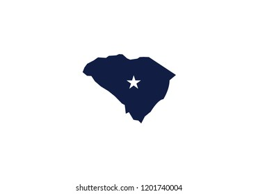South Carolina outline map state shape usa state america symbol