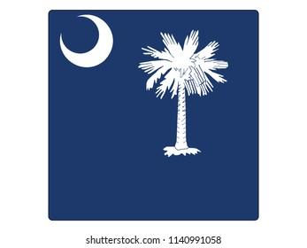 South Carolina Square Flag