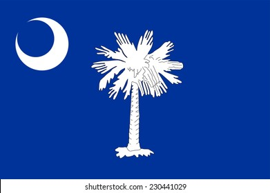 South Carolina State Flag vector. Original South Carolina flag isolated vector in official colors and Proportion Correctly.