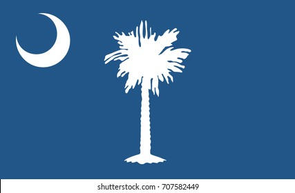 South Carolina State Flag. Vector illustration.