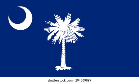 South Carolina state national flag. Vector EPS8