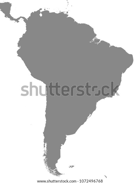 South Central America Map Vector Outline Stock Vector ...