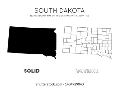 graphic regarding South Dakota County Map Printable titled Map South Dakota Counties Pictures, Inventory Illustrations or photos Vectors