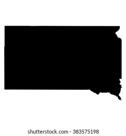 South Dakota map on white background vector