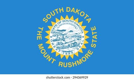 South Dakota state national flag. Vector EPS8