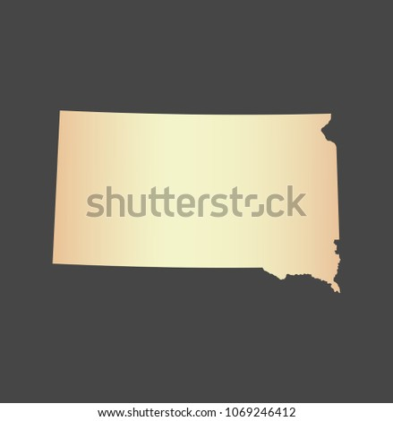 South Dakota State Usa Map Vector Stock Vector Royalty Free
