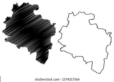 South Dublin County Council (Republic of Ireland, Counties of Ireland) map vector illustration, scribble sketch South Dublin map