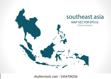 south east asia map High Detailed on white background. Abstract design vector illustration eps 10