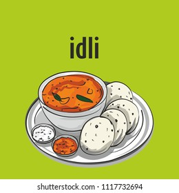 South indian tradinal food idli