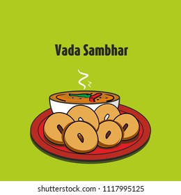 South indian traditional food vada sambar